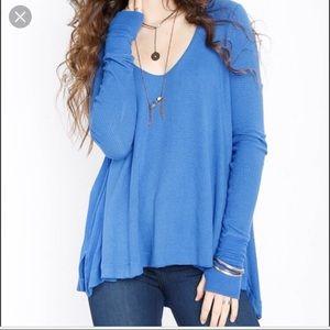Free People Malibu Thermal Blue XS